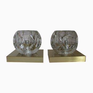 Wall or Ceiling Lamps from Peill & Putzler, 1970s, Set of 2