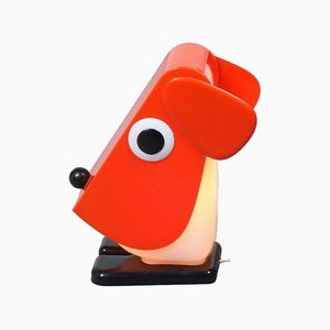 Red Dog Lamp by Fernando Cassetta for Tacman, Italy, 1970s