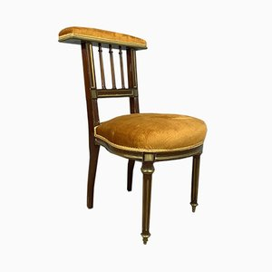 Louis XVI Walnut & Mahogany Dining Chair