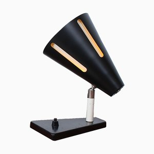 Sun Series Black Wall Light by H. Th. J. A. Busquet for Hala, 1950s