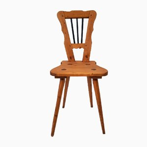 Folk Biedermeier Style Chalet Chair, 1800s