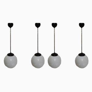Opaline Glass Ceiling Lamps from Elektrosvit, 1960s, Set of 4
