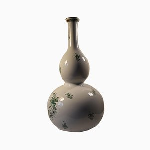 Porcelain Hand-Painted Vase from Herend Hungary, 1970s