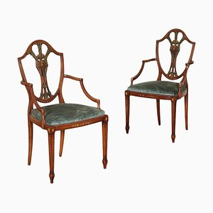 George III Armchairs, Set of 2