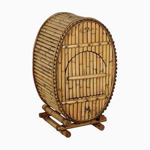 Mueble bar de bambú, años 80