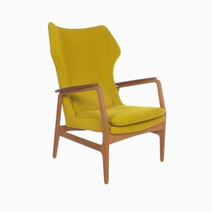 Yellow Armchair by Aksel Bender Madsen for Bovenkamp