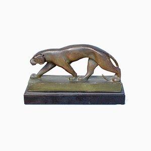 Herumstreichende Panther-Skulptur