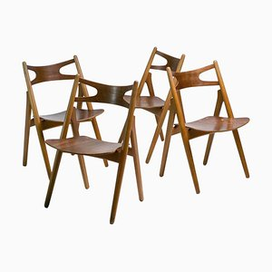 Sawbuck CH29 Chairs by Hans J. Wegner, Set of 4