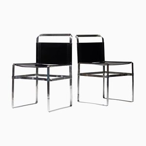 Architectural Leather Strip Chair