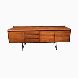 Large Minimalistic Danish Sideboard on Metal Hairpin Legs