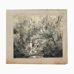 Unknown - the Pond - Original Drawing - 1900s