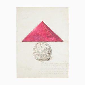 Unknown - Porzellan Lampe - Original Aquarell und Tinte - Spätes 19. Jahrhundert