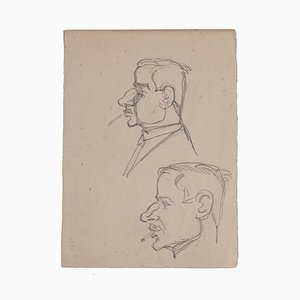 Gabriele Galantara - Figures - Original Pencil Drawing - Early 20th Century