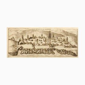 Franz Hogenberg - Karte von Casablanca - Radierung - 16. Jahrhundert