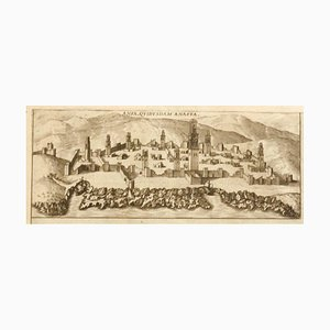 Franz Hogenberg - Mappa di Casablanca - Acquaforte - XVI secolo