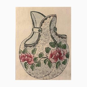 Unknown - Porzellanvase - Originale Tinte & Aquarell aus China - 1890er