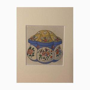 Unknown - Porzellanvase - Originale Tinte & Aquarell aus China - 1890er