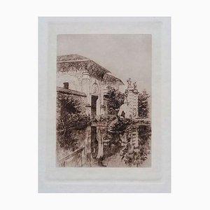 Luca Beltrami - Alhambra - Original Etching on Cardboard - 1878