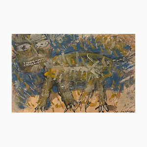 Sergio Barletta - Homage to Paul Kee - Original Ink and Tempera - 1960s
