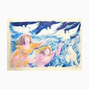 Aligi Sassu - Sirens - Original Lithograph - 1975