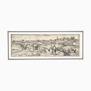 Franz Hogenberg - Landkarte von Jerez De La Frontera - Radierung - 16. Jahrhundert