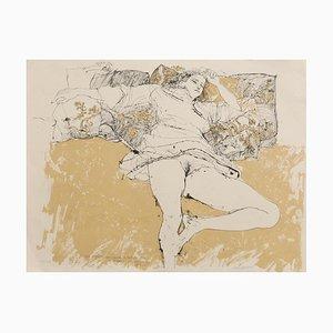 Sergio Barletta - Akt - Original Lithografie - 1980er