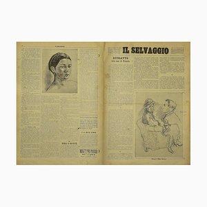 Mino Maccari - the Wild # 1 - Art Magazine with Engravings - 1934
