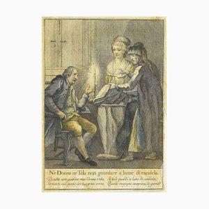 Unknown - No Woman Weder Leinwand - Original Radierung - Spätes 19. Jahrhundert