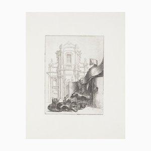 Riccardo Tommasi Ferroni - Barockes Rom - Original Radierung - 1965