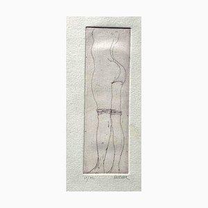 Sergio Barletta - Nude - Original Etching on Paper - 1970s