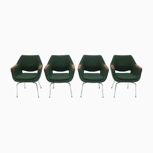 Armchairs by Martella for Olli Mannermaa, 1960s, Set of 4