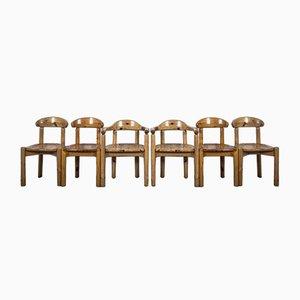 Armlehnstühle im Stil von Rainer Daumiller, 1970er, 6er Set