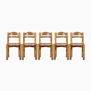 Side Chairs in the Style of Rainer Daumiller, 1970s, Set of 5
