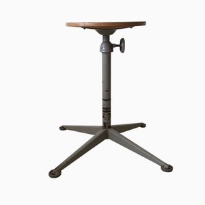 Vintage Industrial Stool by Friso Kramer for Ahrend de Cirkel