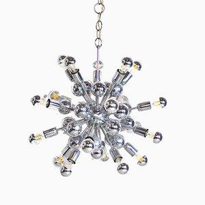 Sputnik Chromed Steel Ceiling Lamp from Reggiani, 1960s