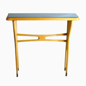 Console Table in Light Wood, Italy, 1950s