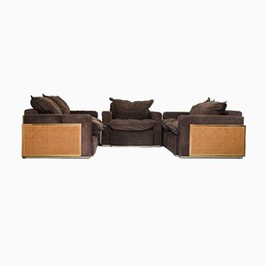 Leather Sofas, 1970s, Set of 3