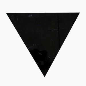 Dreieckiges Schneidebrett aus schwarzem Marmor von Fiammettav Home Collection