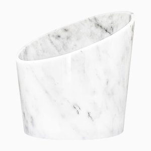 Big Glacette in White Carrara Marble from Fiammettav Home Collection