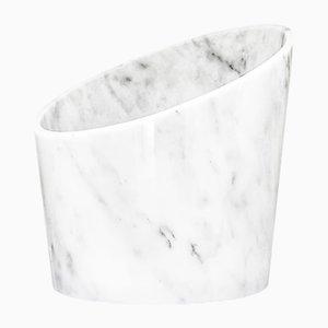 Großer Glacette aus weißem Carrara Marmor von Fiammettav Home Collection