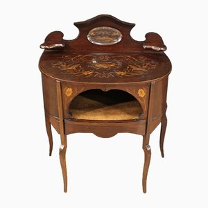 English Dressing Table with Inlaid Mahogany, 1930s