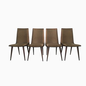 Cherrywood Dining Chairs from Coja Culemborg, 1950s, Set of 4