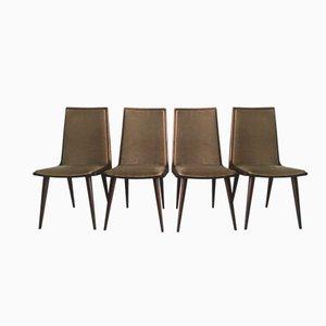 Kirschholz Esszimmerstühle von Coja Culemborg, 1950er, 4er Set