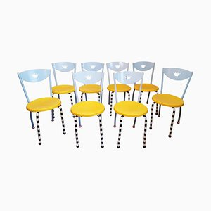 Postmodern Chairs in the style of Michele De Lucchi, 1980s, Set of 8