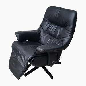 Vintage Leather Reclining Armchair