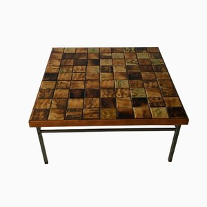 Mesa de centro vintage con mosaico de Webe, años 60