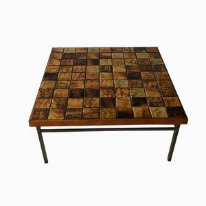 Tavolino da caffè vintage con mosaico di WéBé, anni '60