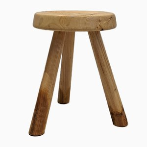 Mid-Century Tripod Low Les Arcs Stool by Charlotte Perriand
