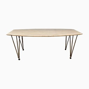 Vintage Marble Topped Coffee Table, 1970s
