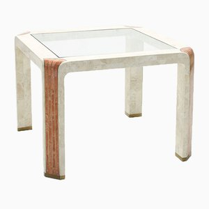 Fossil Stone Side Table by Robert Marcius for Casa Bique, 1980s